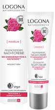 "Logona Regenerating Night Cream Bio-Damask Rose & Kalpariane - Нощен крем за лице с био роза от серията ""Bio-Damask Rose"" -"