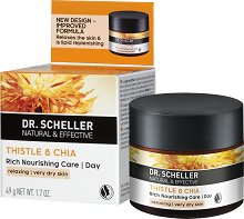 Dr. Scheller Thistle & Chia Rich Nourishing Day Care - Дневен крем за лице за много суха кожа с магарешки трън и чиа -