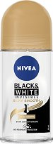 "Nivea Invisible For Black & White Silky Smooth Anti-Perspirant Roll-On - Дамски ролон дезодорант против изпотяване от серията ""Invisible For Black & White"" -"